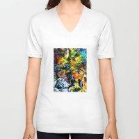 underwater V-neck T-shirts featuring Underwater by Klara Acel
