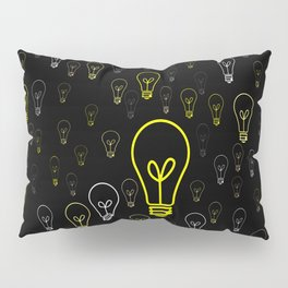 Numerous drawings of incandescent lamps type cartoons Pillow Sham