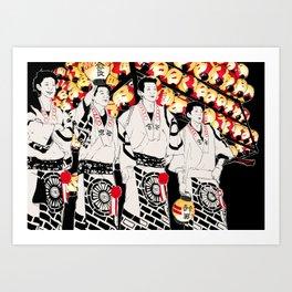 NIHONMATSU chochin matsuri Art Print