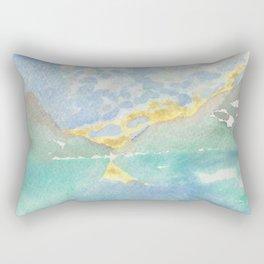 Golden Mirror Lake Rectangular Pillow