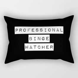 Professional Binge Watcher Rectangular Pillow