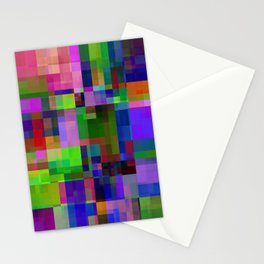 squares and rectangles -102- Stationery Cards