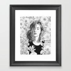 Garden Lounge Framed Art Print
