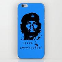 dodgers iPhone & iPod Skins featuring Yasiel Puig - Viva LA Revolucion! by Adrian Mentus