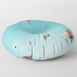 Hot Air Balloon Ride Floor Pillow