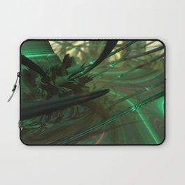Green Whips (3D Fractal Digital Art) Laptop Sleeve
