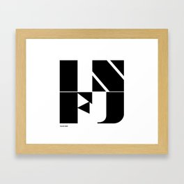 Type Type for INFJ Framed Art Print