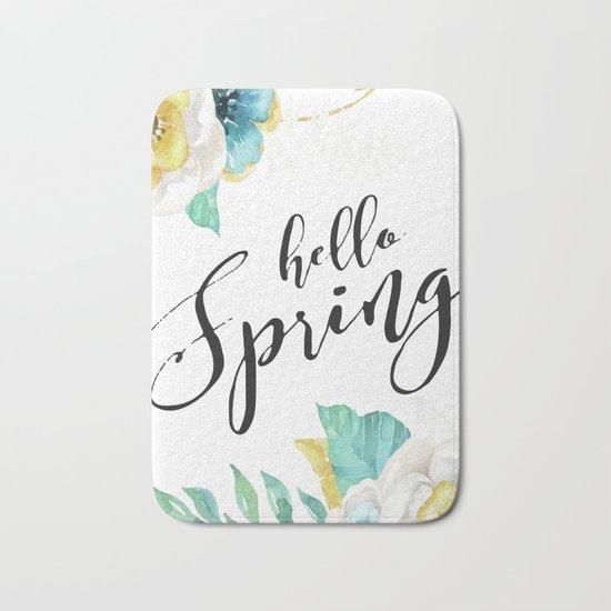 Hello spring Bath Mat