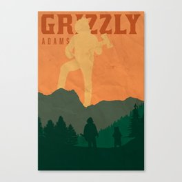 Grizzly Poster Canvas Print