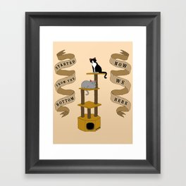 Meow We Here Framed Art Print