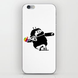 Banksy + Android = Bankdroid iPhone Skin