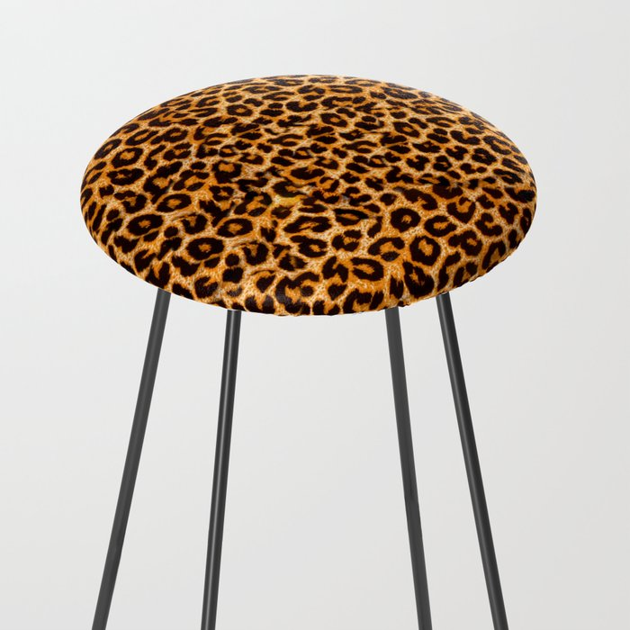 leopard pattern Counter Stool