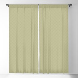 Sweet Pea Green on Earthy Green Parable to 2020 Color of the Year Back to Nature Angled Grid Pattern Blackout Curtain