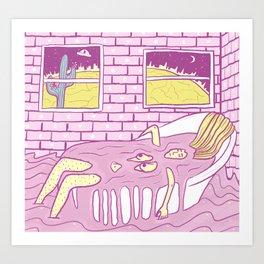 Cosmic Bath Art Print