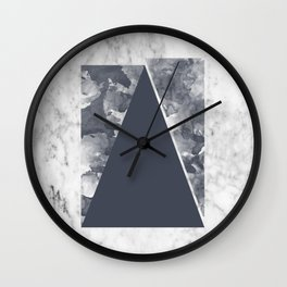 Displacement Triangular Print Wall Clock