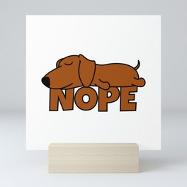 Nope Dachshund Sausage Dog Mini Art Print