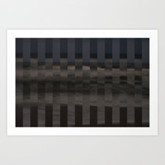 Ocean Collage, Stripes Art Print