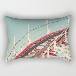 Coast - Vintage Santa Cruz Roller Coaster Rectangular Pillow