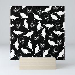 Skull Kats Mini Art Print