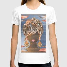 Fashion Short Hair Girl T-shirt