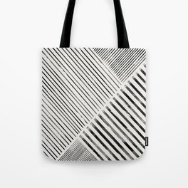 Black and White Stripes, Abstract Tote Bag