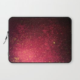 Red and Black Spray Paint Splatter Laptop Sleeve