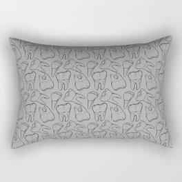Teeth - Black Line (Grey) Rectangular Pillow