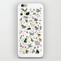 toddler iPhone & iPod Skins featuring Animal Chart by Yuliya