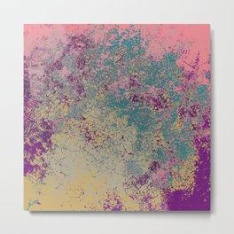 Donah - Abstract Bohemian Camouflage Tie-Dye Style Art Metal Print