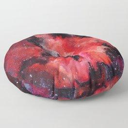 Red Nebula Floor Pillow