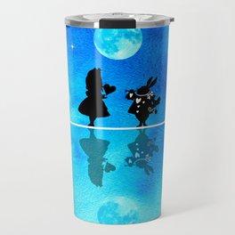 Magical Watercolor Night II - Alice In Wonderland Travel Mug
