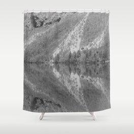 Silver Landscape At Lake Bohinj Shower Curtain