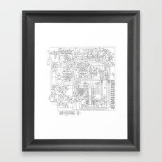 elektrik mankind  (A7 B0111) Framed Art Print