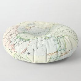 Old Map of The Roman Empire Floor Pillow
