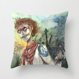 Romantic robot  Throw Pillow