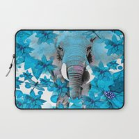 elephant Laptop Sleeves featuring Elephant  by Saundra Myles