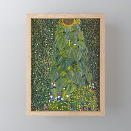 Gustav Klimt - The Sunflower Framed Mini Art Print