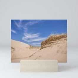 Blue Skies on the Sand Dunes Mini Art Print