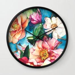 Tropical Floral I Wall Clock