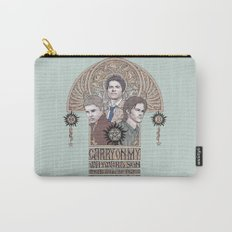 Carry On My Wayward Son (Castiel, Sam and Dean Winchester) Carry-All Pouch
