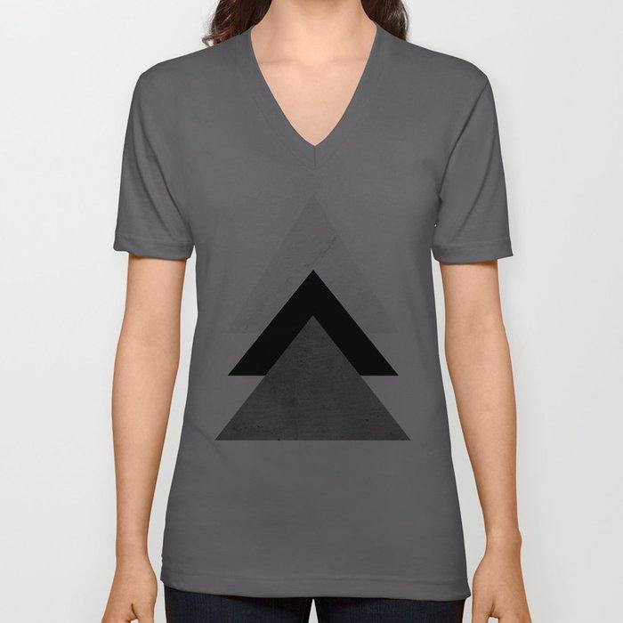 Arrows Monochrome Collage Unisex V-Ausschnitt