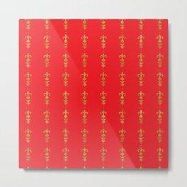 muro rosso Metal Print
