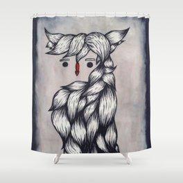 Her Owl Hair Shower Curtain