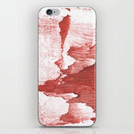 Indian red colored watercolor iPhone Skin