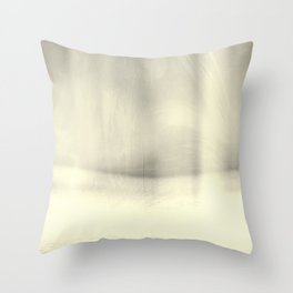 Modern Abstract Landscape, Silver, Muted Tones, Monochromatic, Minimalist, Photography, Pastel Throw Pillow