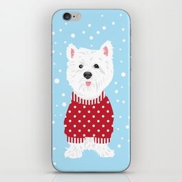 Westie Spots and Stripes iPhone Skin