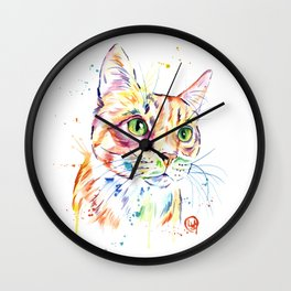Orange Tabby Wall Clock