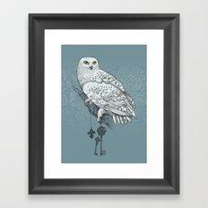 Secrets of the Snowy Owl Framed Art Print