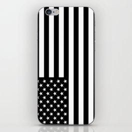 Black And White Stars And Stripes iPhone Skin