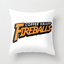 Copper Valley Fireballs Throw Pillow